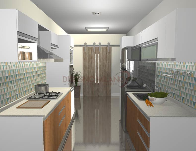 Cocina diseño paralelo muebles de cocina